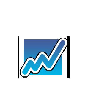 Icon Graph für den Webseitenbereich - Einen Schritt voraus