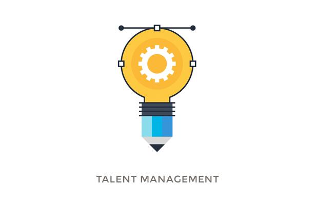 Glühbirne mit Bleistiftfassung für Projekt Talent Management